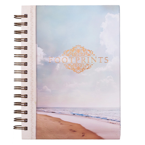 Footprints - Hebrews 13:5 Wirebound Journal
