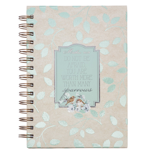 Sparrows Large Hardcover Wirebound Journal - Matthew 10:31