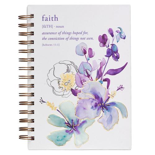 Faith Large Hardcover Wirebound Journal – Hebrews 11:1