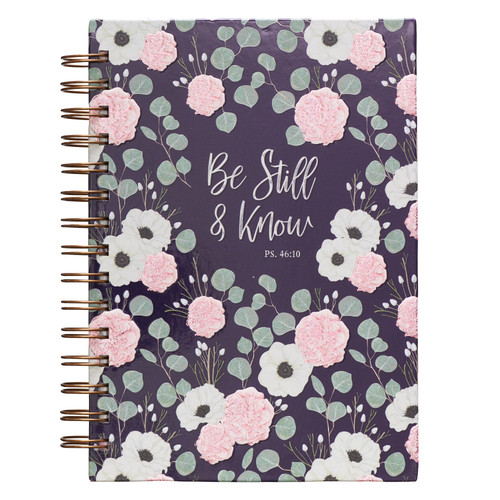 Be Still & Know Large Hardcover Wirebound Journal – Psalm 46:10