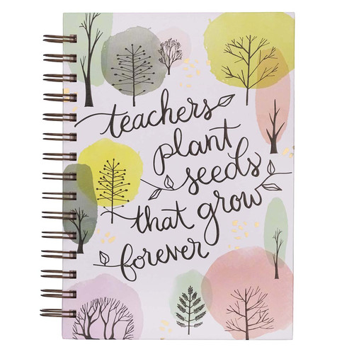 Teachers Plant Seeds Large Wirebound Journal