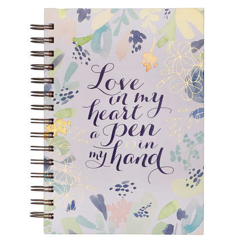 Love in my Heart Large Wirebound Journal