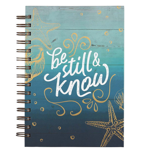 Be Still & Know Large Wirebound Journal - Psalm 46:10