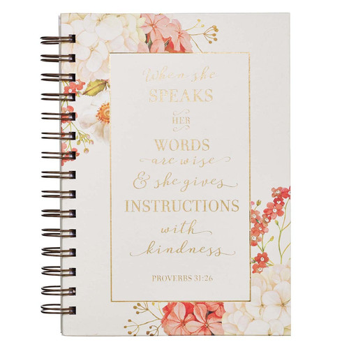 When She Speaks Large Wirebound Journal - Proverbs 31:26