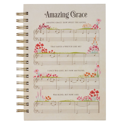 Amazing Grace Sheet Music Large Wirebound Journal