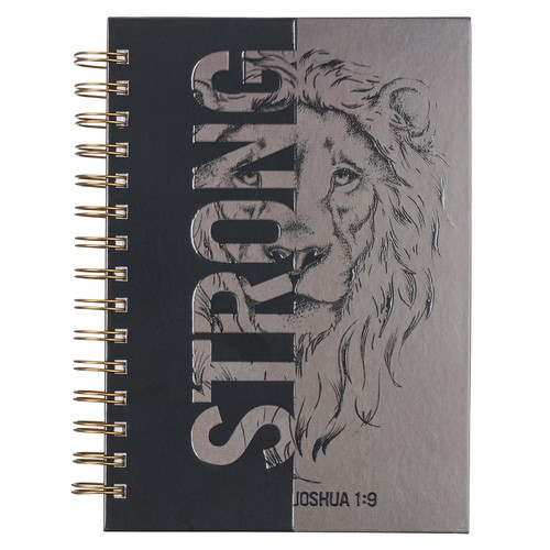 Strong Large Wirebound Journal - Joshua 1:9