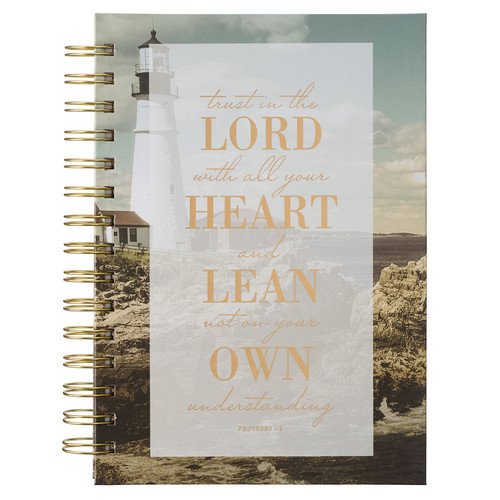 Trust In The LORD Lighthouse Large Wirebound Journal - Proverbs 3:5