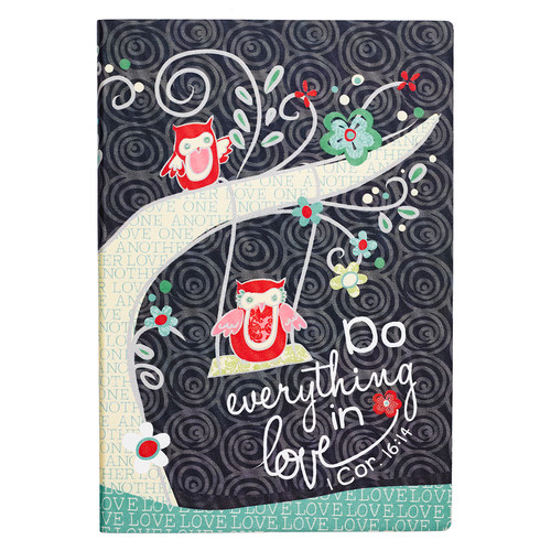 Do Everything in Love Silky-Printed Flexcover Journal - 1 Corinthians 16:14