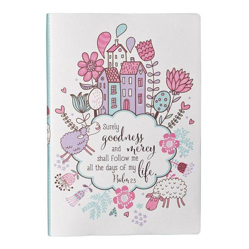 Silken-Printed Flexcover Journal Featuring Psalm 23:6