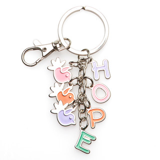Metal Keyring: Holly and Hope Charms