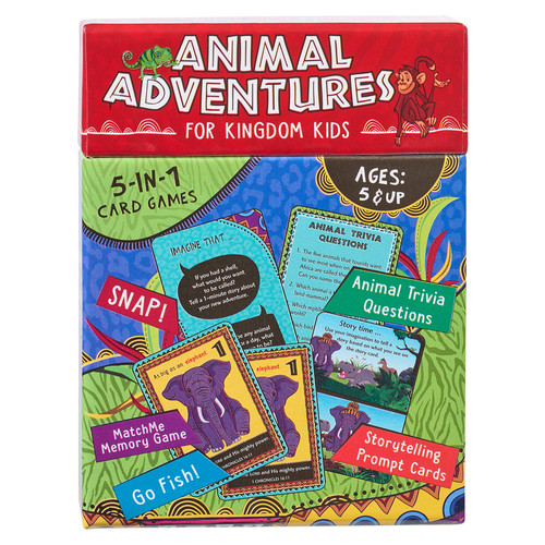 Animal Adventures for Kingdom Kids 5-in-1 Card Game Set