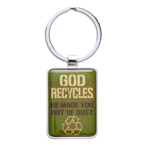 Witness Gear Metal Keyring: God Recycles - Gen 2:7