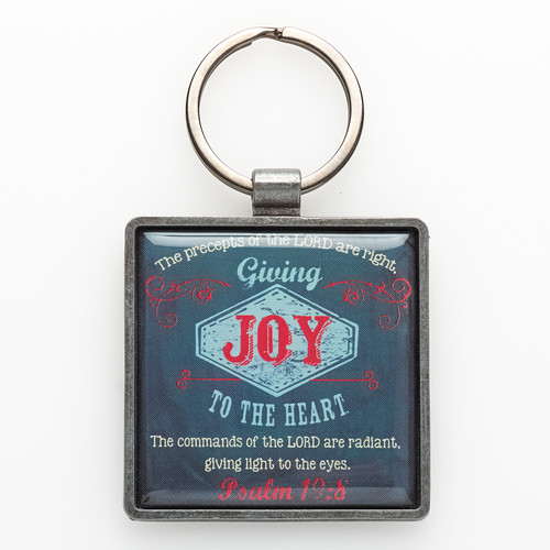 Joy Metal Keyring Featuring Psalm 19:8