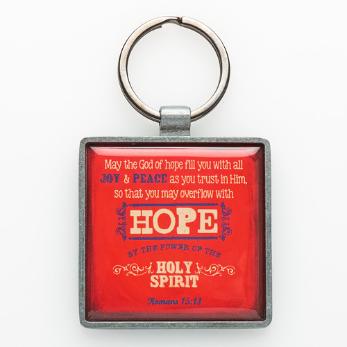 Hope Metal Keyring Featuring Rom 15:3