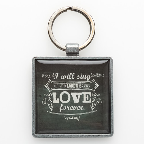 Love Metal Keyring Featuring Psalm 89:1
