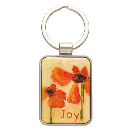 Metal Keyring: Joy - Habakkuk 3:18