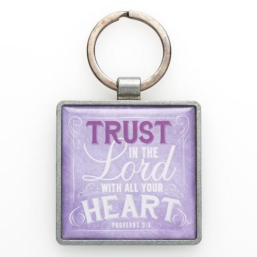 Metal Keyring: Trust - Prov 3:5