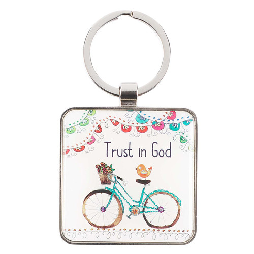 Trust in God - Philippians 4:6 Keyring
