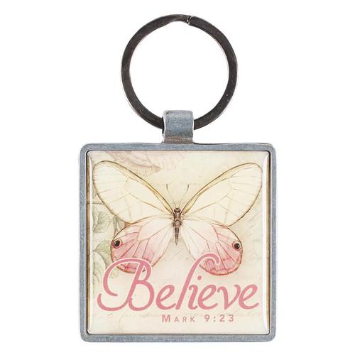 Believe Butterfly - Mark 9:23 Keyring