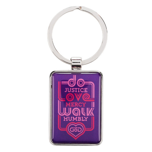 Keyring: Do Justice Love Mercy - Micah 6:8