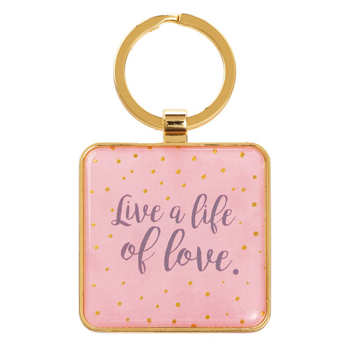 Live a Life of Love - Ephesians 5:2 Metal Keyring