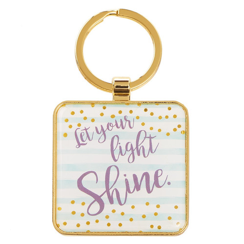 Let Your Light Shine - Matthew 5:16 Metal Keyring