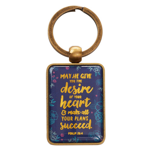 The Desire of your Heart - Psalm 20:4 Metal Keyring
