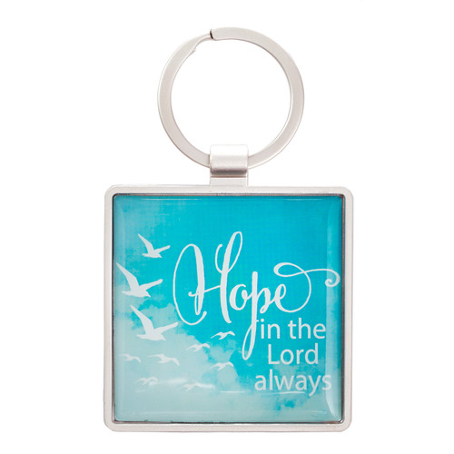 Soar Collection, Hope in the Lord - Isaiah 40:31 Metal Keyring
