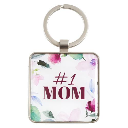 #1 Mom - Proverbs 31:29 Keyring