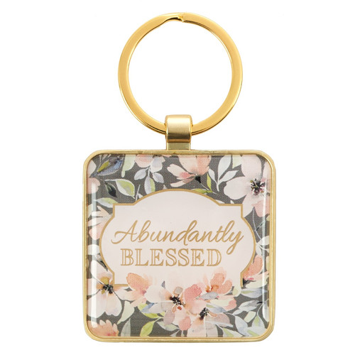 Abundantly Blessed Keyring