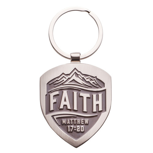 Faith - Matthew 17:20 Metal Keyring