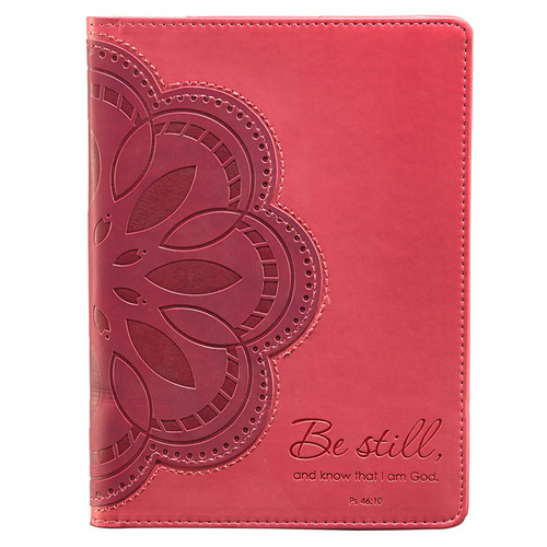 Pink Flower Applique Inspirational Cover for Kindle Fire - Psalm 46:10 (does not fit Kindle Fire HD