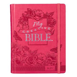 Journaling Bible in Pink Hardcover KJV My Creative Bible