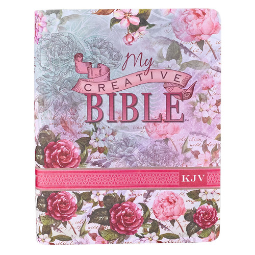 Journaling Bible in Silky Floral KJV My Creative Bible