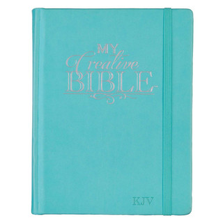 Journaling Bible in Teal Hardcover KJV My Creative Bible