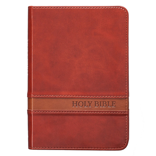 Brown Faux Leather Large Print Compact King James Version Bible