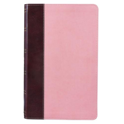 Pink and Brown KJV Bible Giant Print