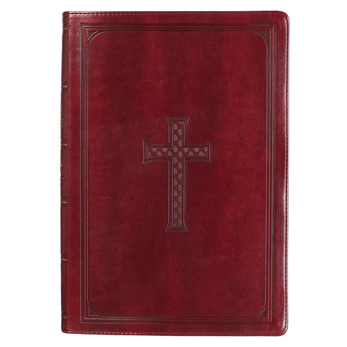 Burgundy KJV Bible Super Giant Print