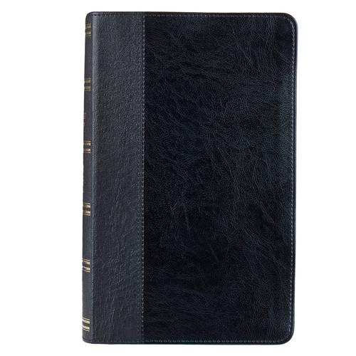 Two-Tone Black KJV Bible Giant Print