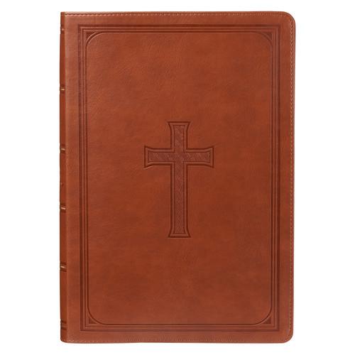 Tan KJV Bible Super Giant Print