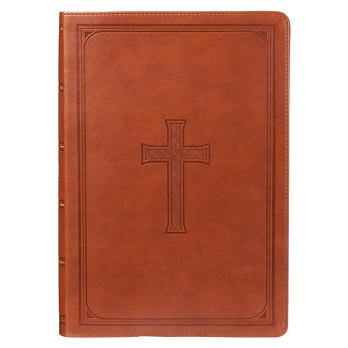 Tan KJV Bible Super Giant Print