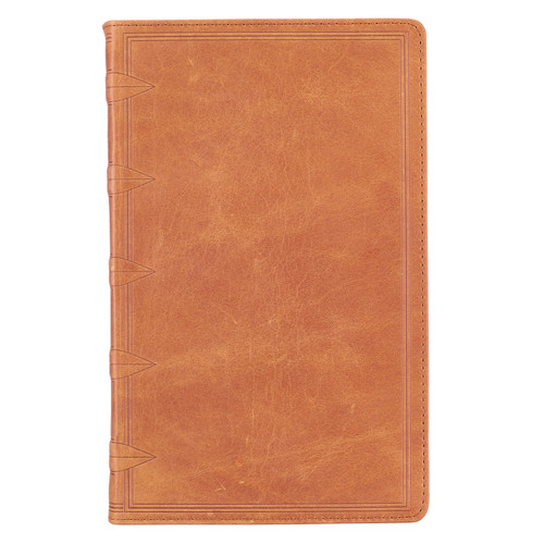 Premium Leather Tan KJV Bible Giant Print