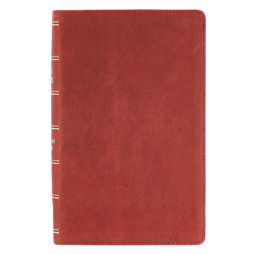 Burgundy Premium Leather Giant Print Bible with Thumb Index - KJV