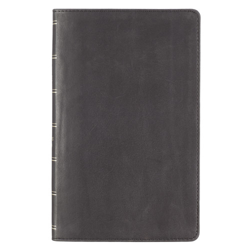 Black Premium Leather Giant Print Bible with Thumb Index - KJV