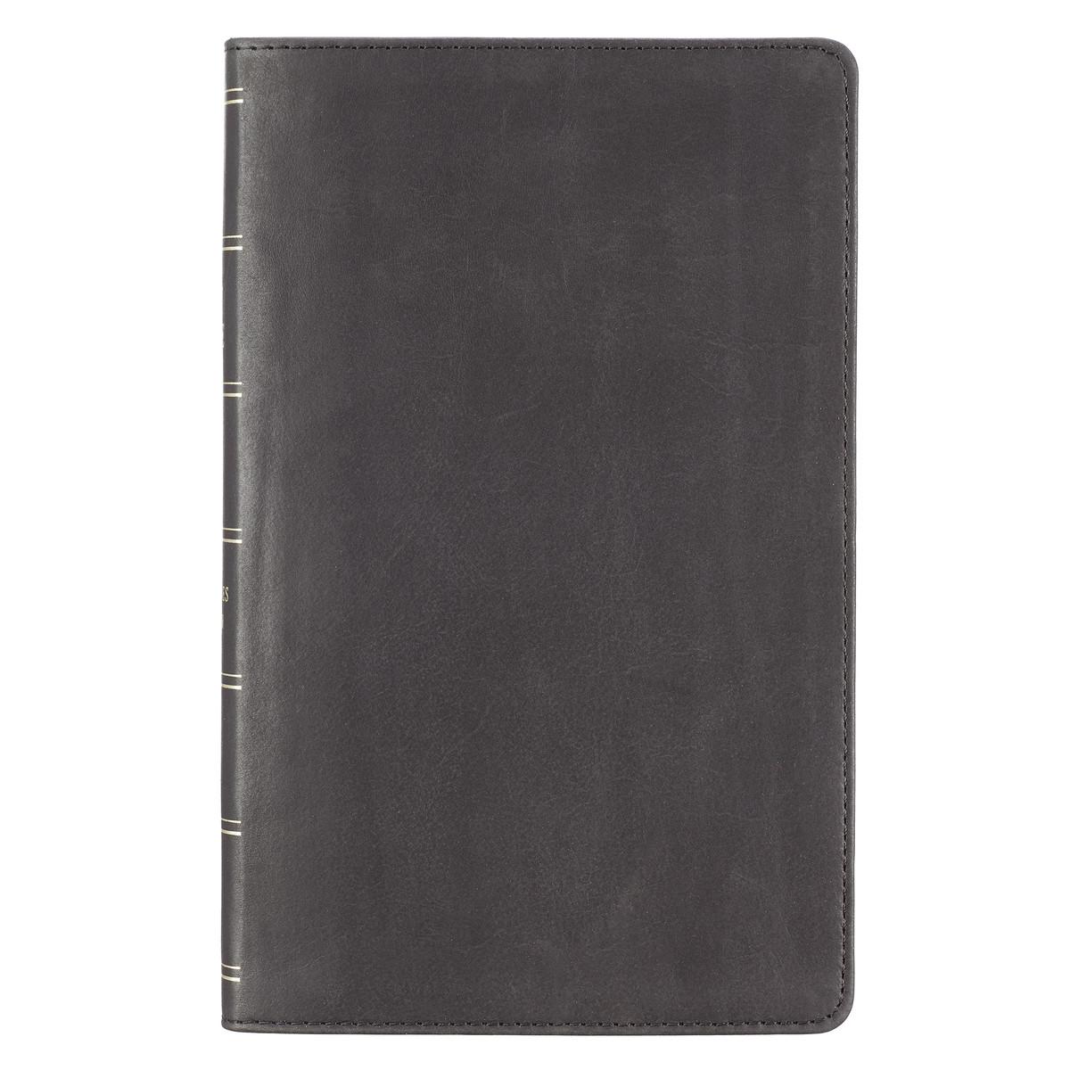 Premium Leather Black KJV Bible Giant Print