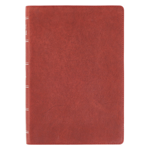 Burgundy Premium Leather Super Giant Print Bible with Thumb Index- KJV