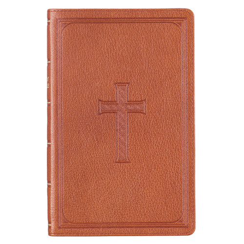 Premium Leather Brown KJV Bible Standard Gift Edition