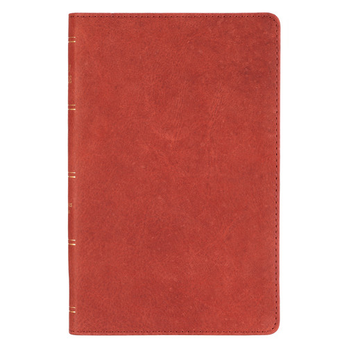 Burgundy Premium Leather King James Version Gift Bible with Thumb Indexing