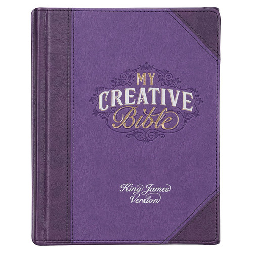 Purple Quarter-bound Faux Leather Hardcover My Creative Bible - A Journaling Bible