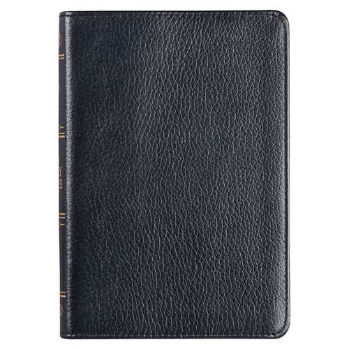 Black Full Grain Leather Compact King James Version Bible